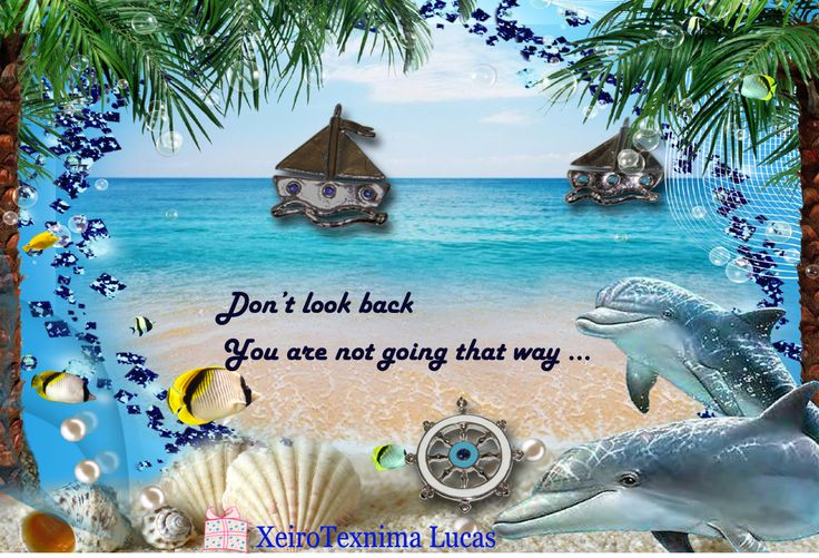 Don't look back. You are not going that way ...