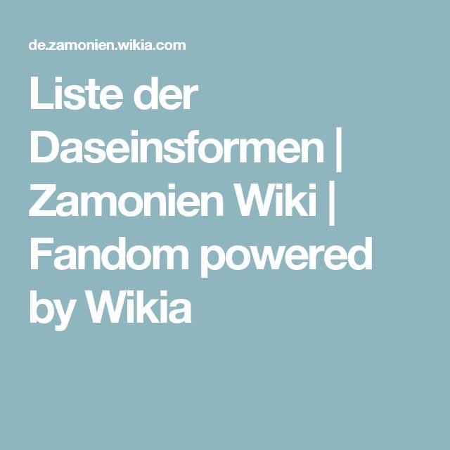 Liste der Daseinsformen   Zamonien Wiki   Fandom powered by Wikia