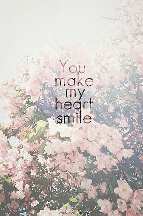 You Make My Heart Smile Pictures, Photos, and Images for Facebook, Tumblr, Pinterest, and Twitter