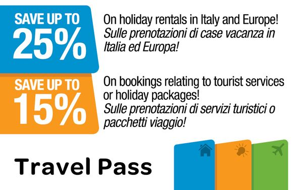 #Travel #Pass is a #free #card that gives you the chance to book at #discounted #rates #guided #tours in #Rome, #vacation #rentals all over the world and to #shop and #eat in the #historic #centre.