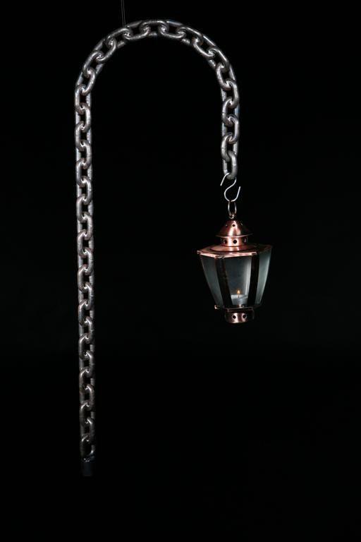 Garden lantern crooks handmade from welded chain by VernArt, £90.00
