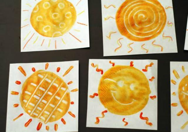 7 Sunshine Crafts to Brighten Up Summer: Sunny Monoprints