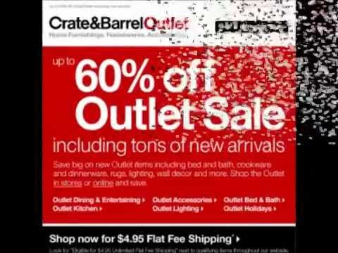 Crate And Barrel Coupon Code 2014 -- Get The Best Offers Now - YouTube
