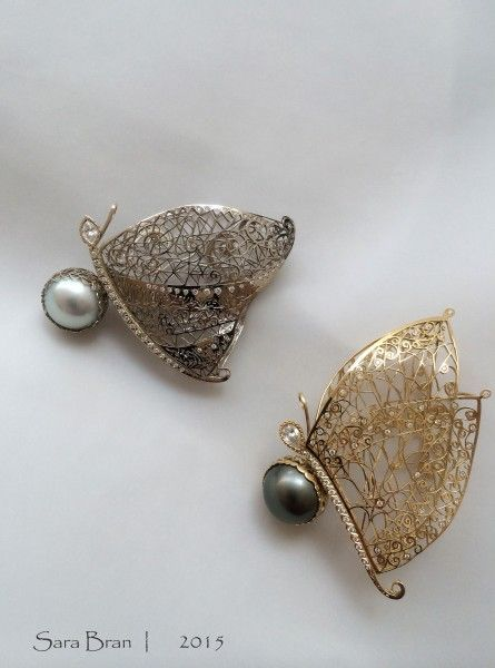 Sara Bran : Necklaces, Earrings, Bracelets, Brooches, Rings, Gold, Silver