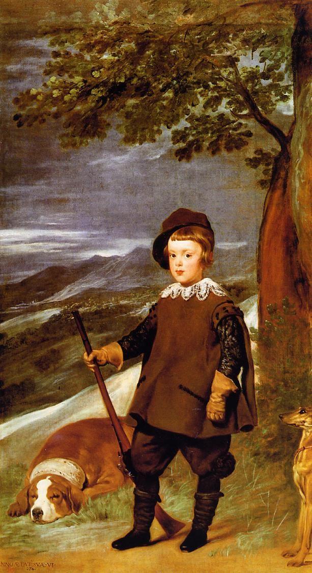 Diego Velazquez - Prince Baltasar Carlos as a Hunter (oil on canvas, c.1635)