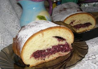 W Mojej Kuchni Lubię.. : drożdżowe ciasto z twarogiem i aronią, rodzynkami....