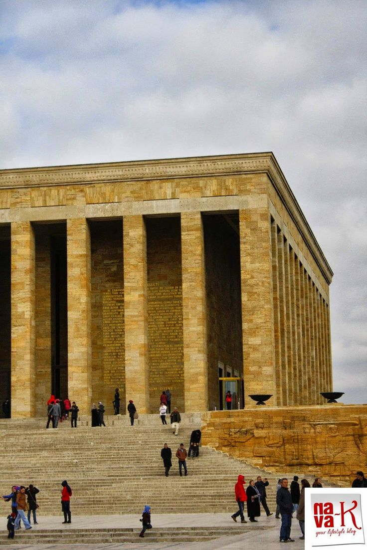 Ankara - Turkey Anitkabir - the mausoleum of Mustafa Kemal Ataturk, first President of the Republic of Turkey.