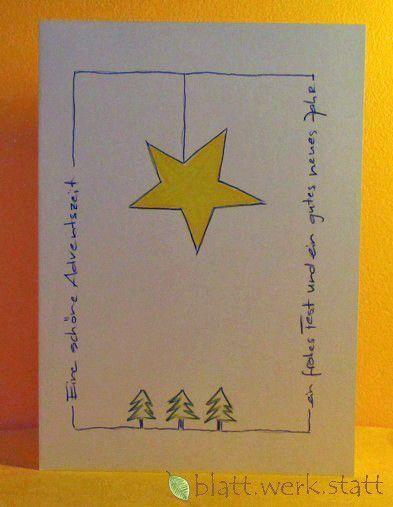 Weihnachten – Glückwunschkarte Weihnachten Advent handgemalt in. – ein Designerstück von blattwerkstatt bei DaWanda / Dekopub
