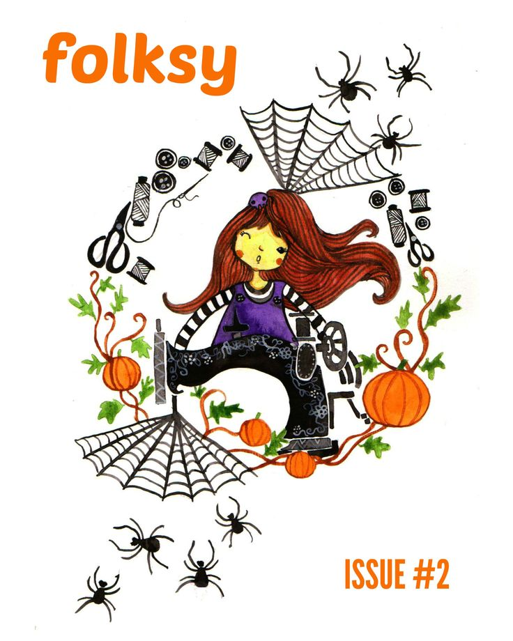 folksy 2nd edition, issue: Halloween, October 2014. Cover illustration by Dacik Juwita