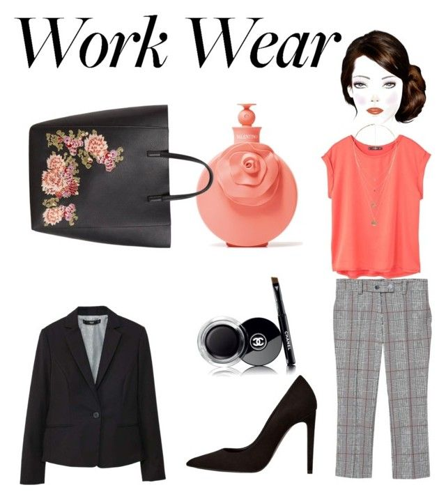 """""""WORK WEAR: a MANGO outfit"""" by chanelkrazy on Polyvore featuring MANGO, Valentino and Chanel"""