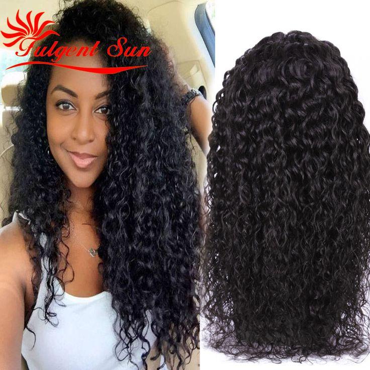 Pelo peruano de la virgen peluca llena del cordón rizado pelucas de cabello humano cordón suizo top sin cola peluca llena del cordón 130% densidad Suiza encaje