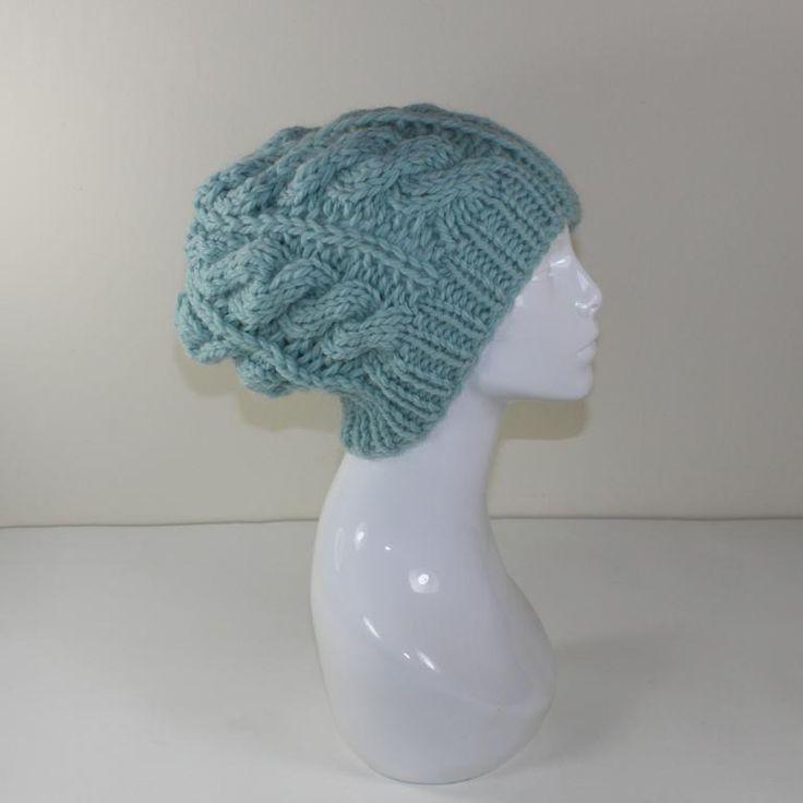 Knit Slouchy Hat Pattern Bulky Yarn : Super Chunky Cable Slouch Hat Slouch hats, Cable and ...