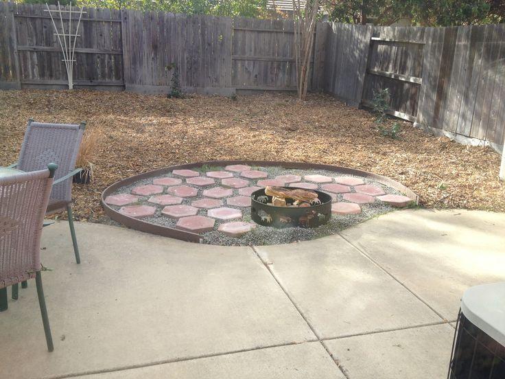 cheap fire pit layout patio pinterest. Black Bedroom Furniture Sets. Home Design Ideas