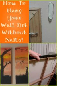 How To Hang Canvas Art Without Nails Or Stress Studfinders
