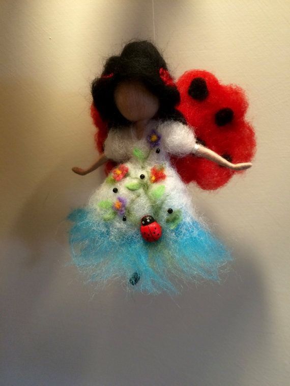 Needle felted fairyWaldorf inspired Fairy fields by DreamsLab3