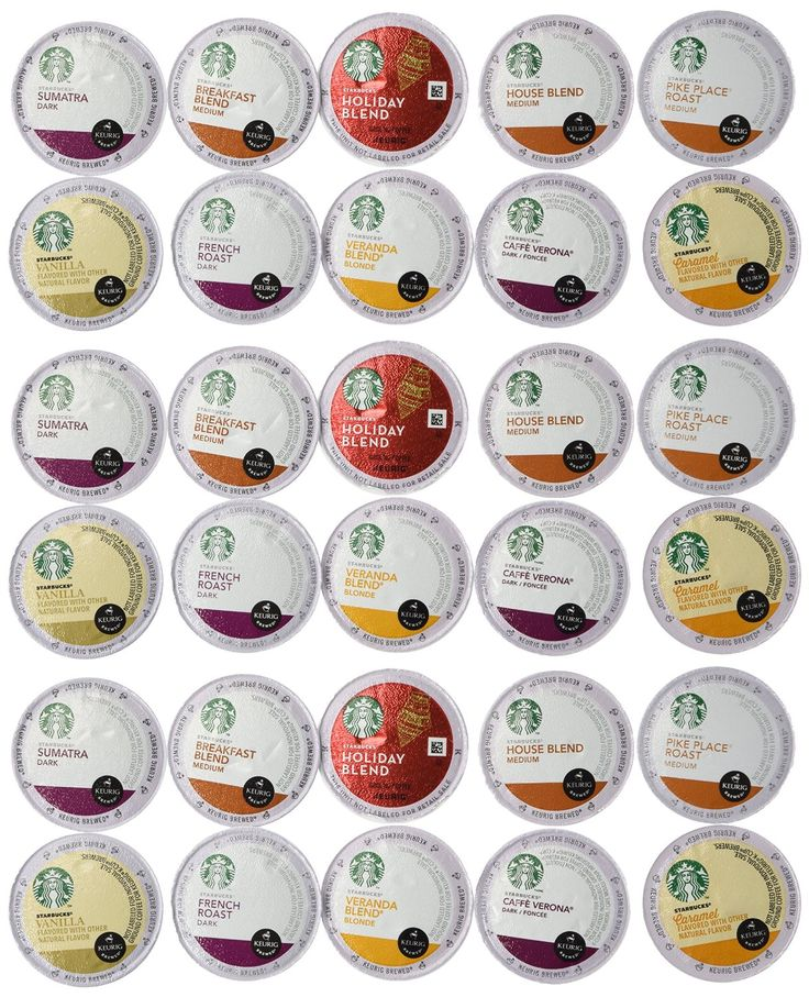 30 Count - Variety Pack of Starbucks Coffee K-Cups for All Keurig K Cup Brewers - (10 flavors, No DECAF, 3 K Cups each) * Stop everything and read more details here! : K Cups