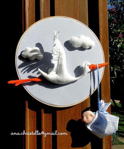 Porta de maternidade cegonha <3   Flickr - Photo Sharing!
