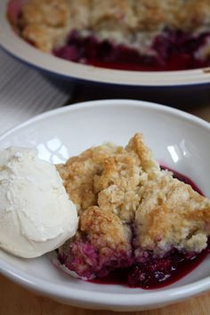 Summer Plum Cobbler - Blue-Eyed Bakers - Blue Eyed Bakers