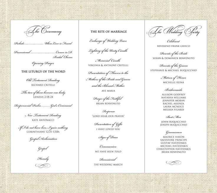 tri fold wedding programs templates thevillas co