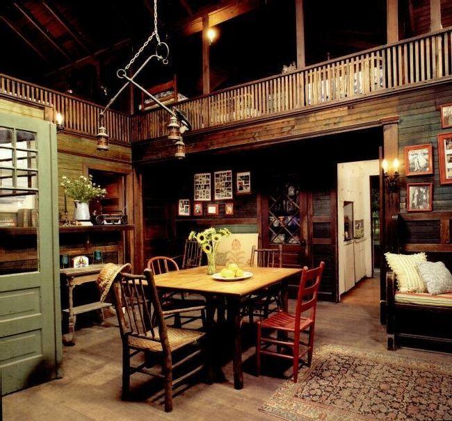 log cabin interiors
