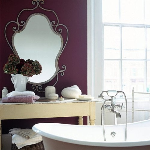 Key Interiors By Shinay Transitional Bathroom Design Ideas: Possible Small Accent Wall Color