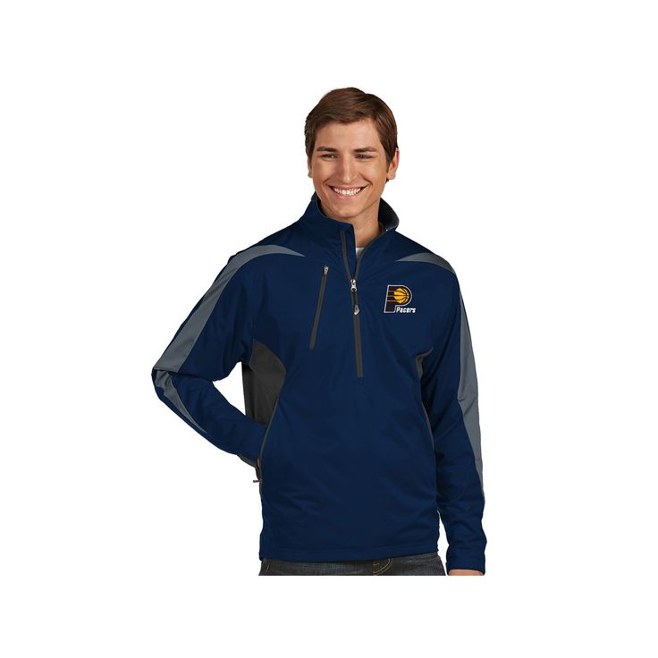 Men's Antigua Indiana Pacers Discover Pullover, Size: Medium, Blue (Navy), Durable