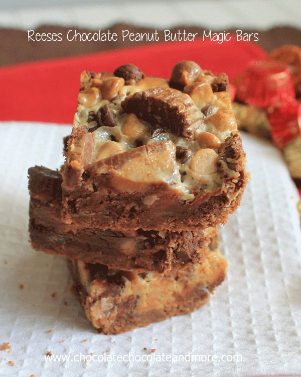 Reeses Chocolate Peanut Butter Magic bars | Recipe | Bar ...