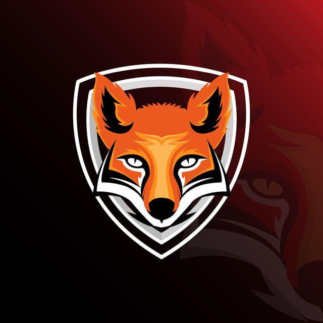 الثعلب Esport قالب شعار الألعاب Free Logo Templates Animal Logo Game Logo