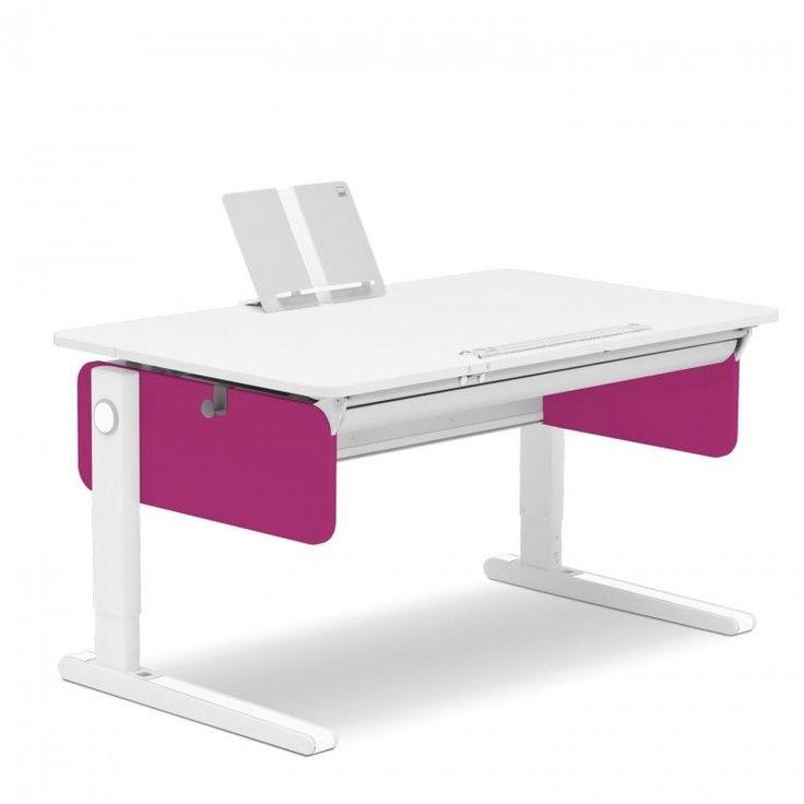 Moll Schreibtisch Champion als Champion style mit pinkfarbenen Seitenblenden.