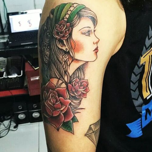 gypsy girl tattoo - Google Search