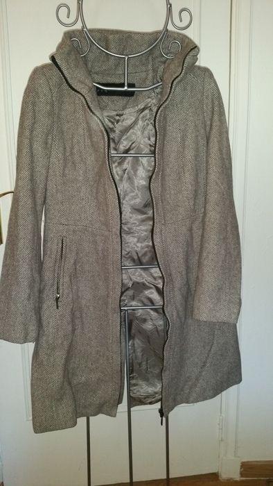 manteau motif beige/taupe