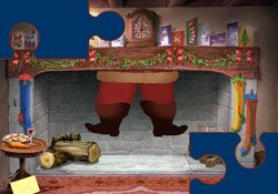 Santa's Jigsaw - animated Flash ecard by Jacquie Lawson