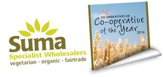 Suma Cooperative sells everything vegan from dairy alternatives, cleaning products, to dog food!