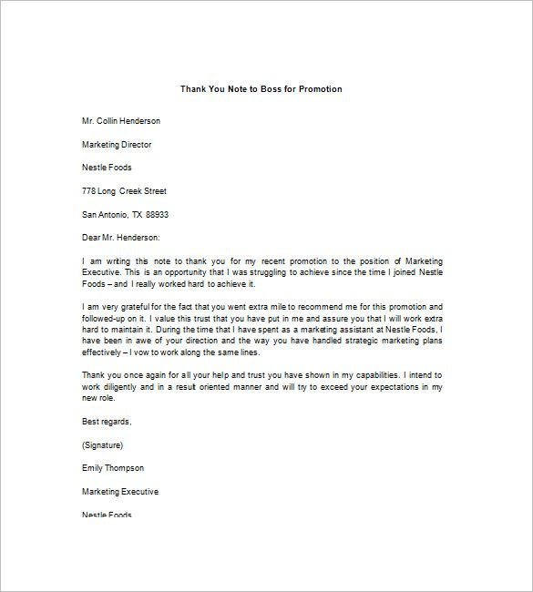 Promotion congratulations letter   Example of a congratulations     Offer Letter   Promotion