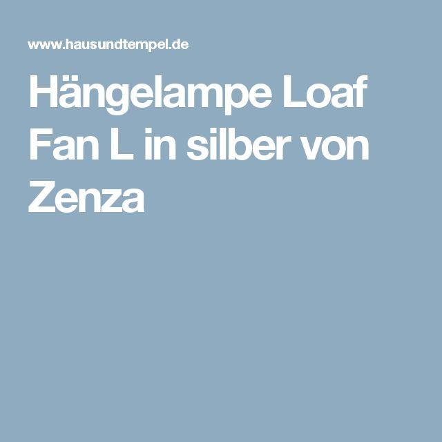 Hängelampe Loaf Fan L in silber von Zenza
