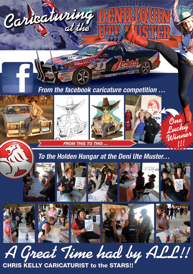 Caricaturing for Republic Events Australia & General Motors at the Deniliquin Ute Muster 2014
