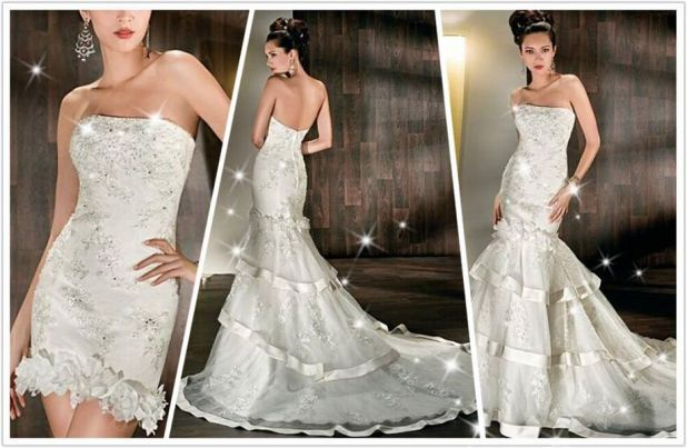 17 Best Images About Convertible Wedding Dresses On