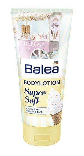 Balea Super Soft Bodylotion mit Vanille-Eiscreme-Duft
