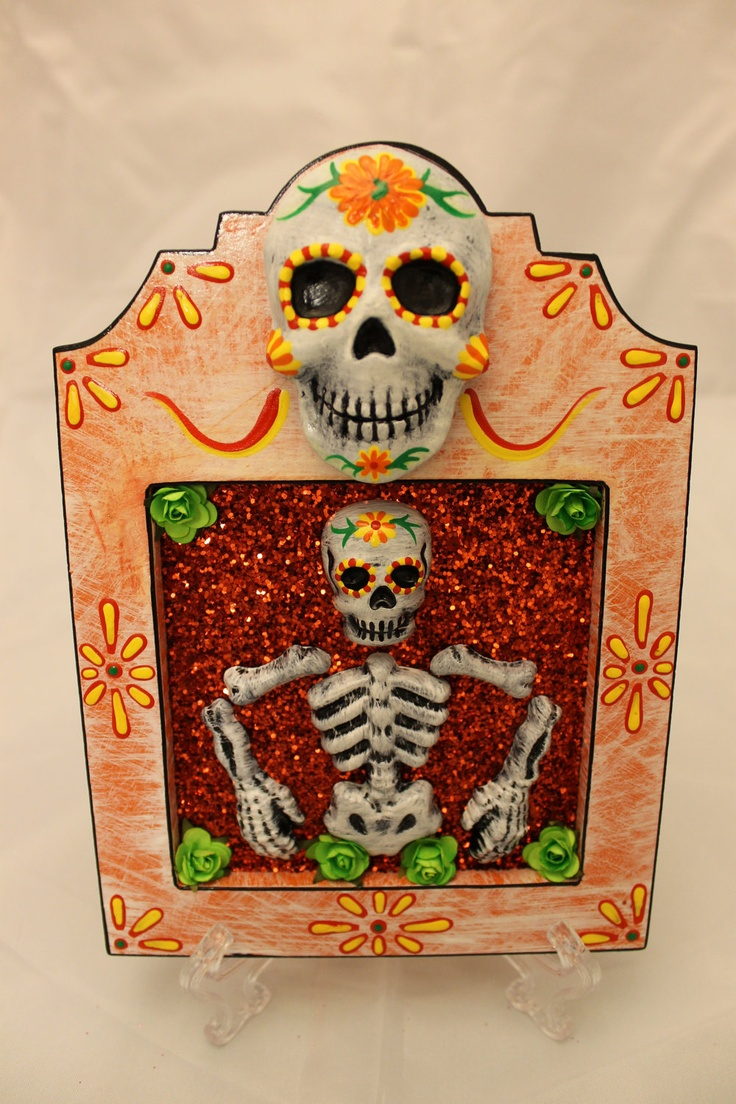 17 best images about day of the dead art on pinterest for Day of the dead arts and crafts