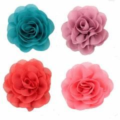 [ 20% OFF ] 120Pcs/lot Kids Girls' Hair Accessories Chiffon Silk Diy Rosette Flowers Without Clips,kids Boutique Hair Flowers