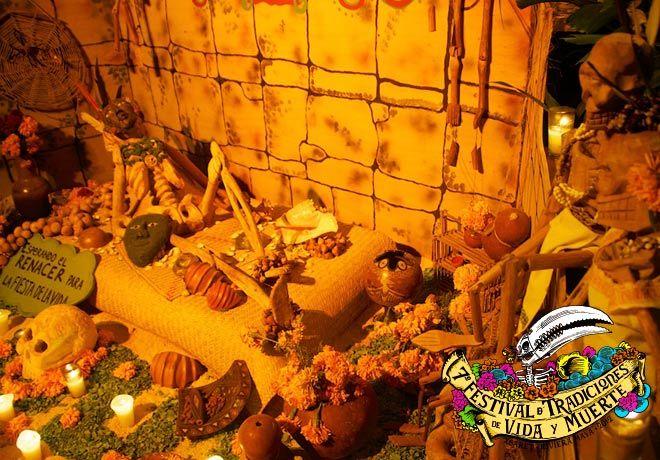 Tradicional Altar de muertos