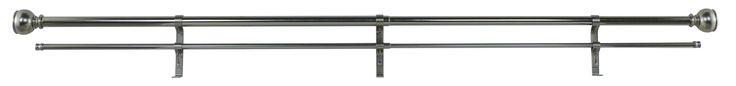 Orion Double Curtain Rod & Hardware Set