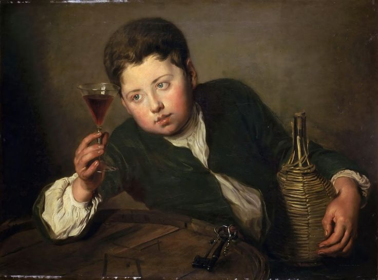 Philippe Mercier - Young Wine Taster 1740  #18th #Classic #Painting #Philippe #Mercier