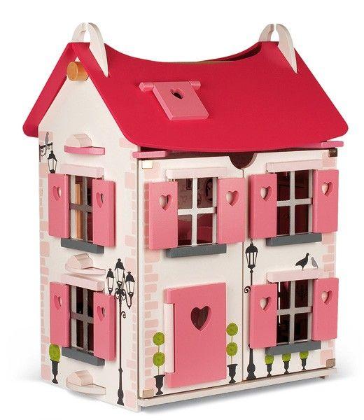 Janod - Furnished Maison Doll House Pink