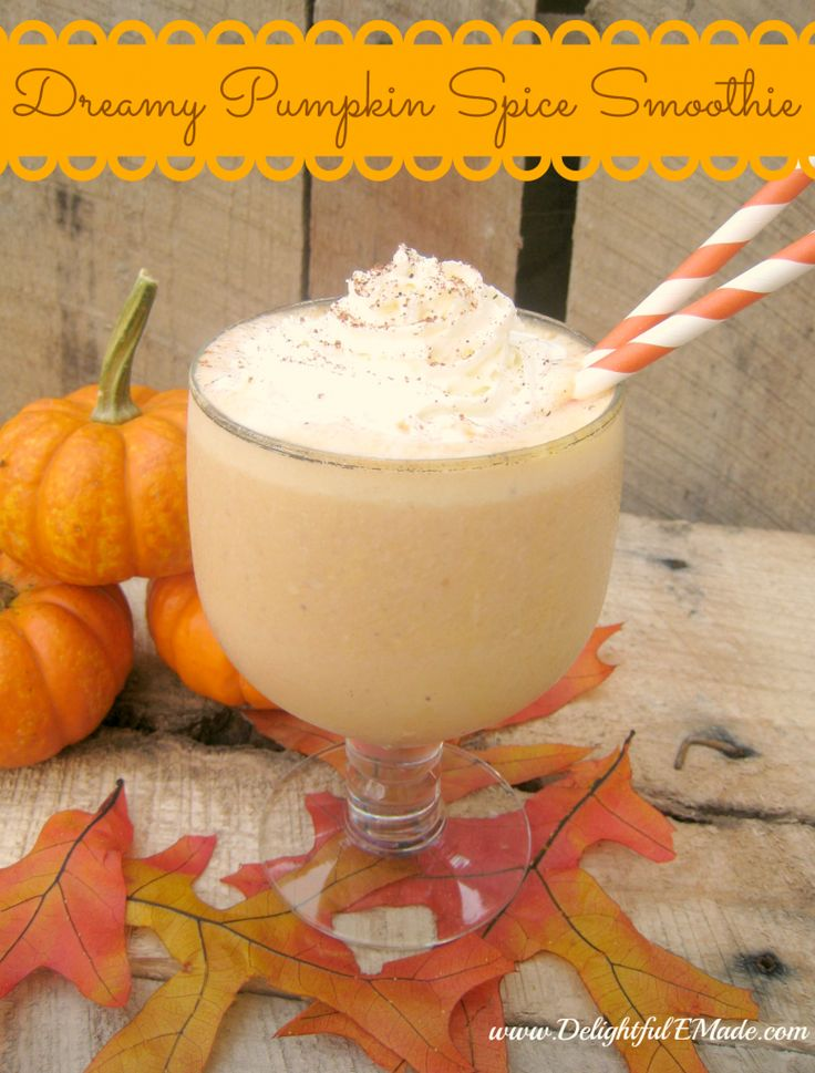 Dreamy Pumpkin Spice Smoothie by Delightful E Made