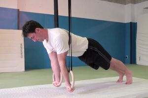 3 gymnastic ring workouts for different training goals.
