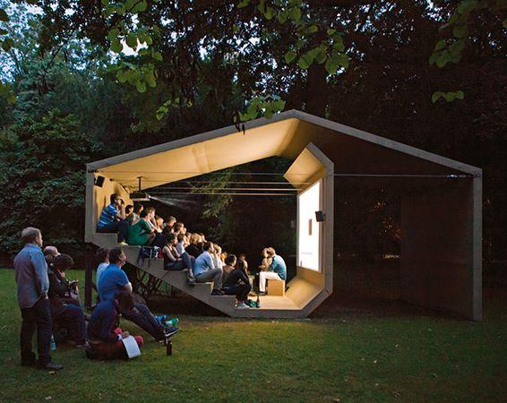 CINEORAMA | Erika Hock | Pavilion of Moving Images | 2012 | Architecture. | Pinterest | Архитектура, Павильон и Беседки
