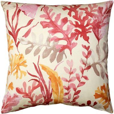 Sea Garden Pink Throw Pillow 20X20