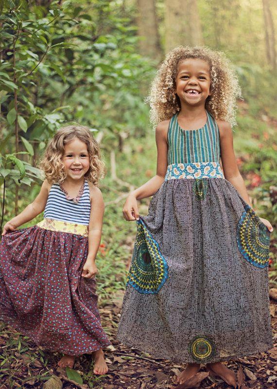 Halter Maxi Dress // Jade Maxi Girls' Dress - by MaggieBogart on etsy