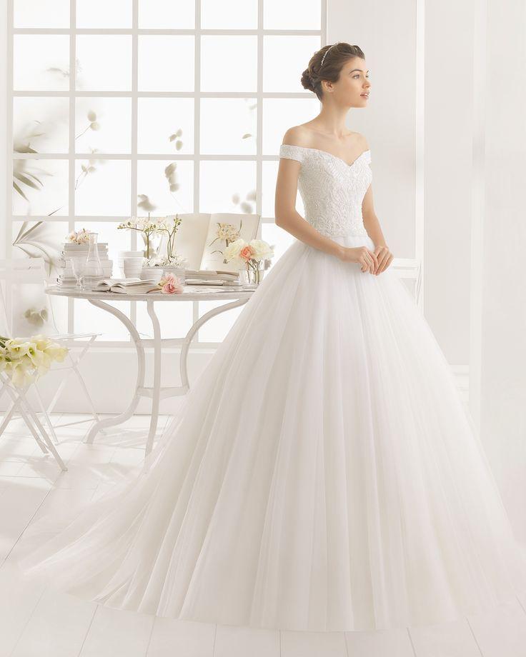 MARCUS vestido de novia  en bordado pedreria y tul.